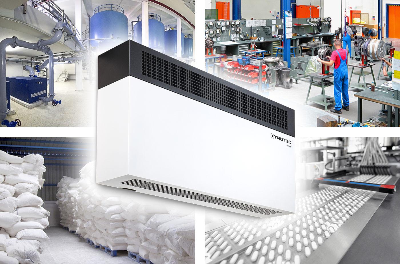 Un deshumidificador ideal para múltiples aplicaciones: el DH 60 de Trotec