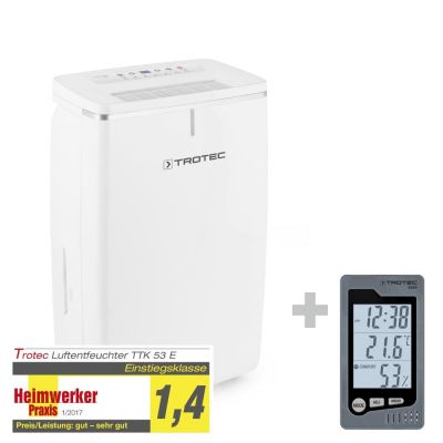 Deshumidificador TTK 53 E + Termohigrómetro para interiores BZ05