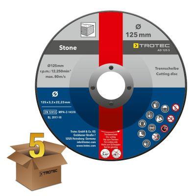 Juego de discos de corte para piedra AD 125 S (5 piezas)