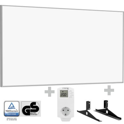 Panel calefactor infrarrojo TIH 700 S + Enchufe-termostato BN 30 y pie de soporte