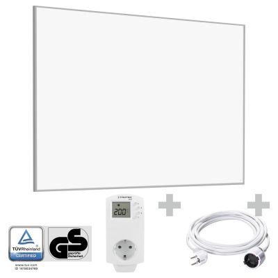 Panel calefactor infrarrojo TIH 1100 S + Cable alargador de PVC 5 m / 230 V / 1,5 mm² + BN30