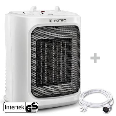 Soplador calefactor de cerámica TFC 16 E + Cable alargador de PVC 5 m / 230 V / 1,5 mm²