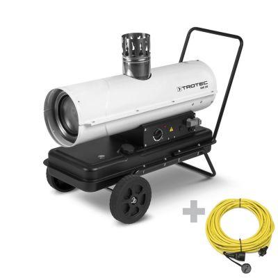 Calefactor de gasoil indirecto IDE 20 + Cable alargador profesional de 20 m / 230 V / 2,5 mm²