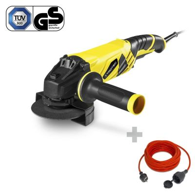 Amoladora angular PAGS 10-125 + Cable alargado de calidad 15 m / 230 V / 1,5 mm²