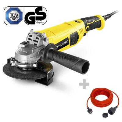 Amoladora angular PAGS 11-125 + Cable alargado de calidad 15 m / 230 V / 1,5 mm²