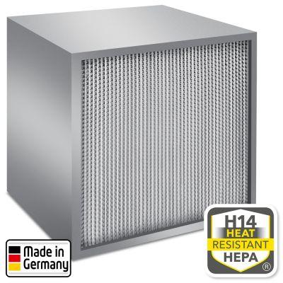 Filtro HEPA clase H14 según EN 1822 para TES 200 y TAC V+.