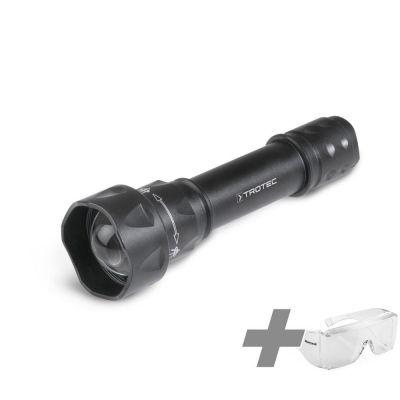 Linterna UV Torchlight/ luz de la antorcha 15F + Gafas de protección de alta potencia Sistemas UV
