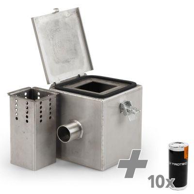 Cámara de gas de humo de acero inoxidable V2 + Cartucho de humo de color blanco (10 unidades)