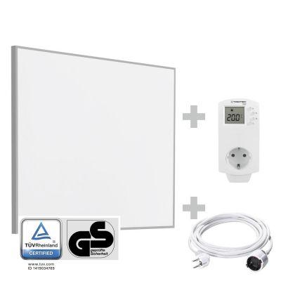 Panel calefactor infrarrojo TIH 300 S + Cable alargador de PVC 5 m / 230 V / 1,5 mm² + BN30