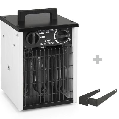Calefactor eléctrico TDS 10 + soporte para montaje en pared