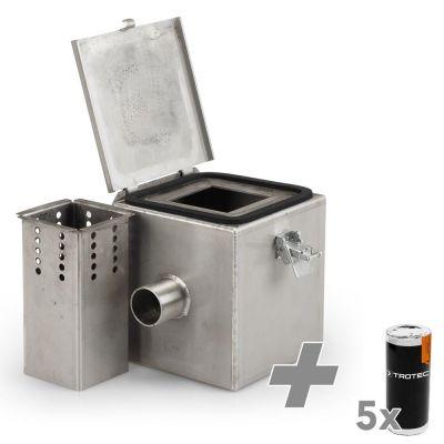 Cámara de gas de humo de acero inoxidable V2 + Cartucho de humo de color blanco ( 5 unidades )