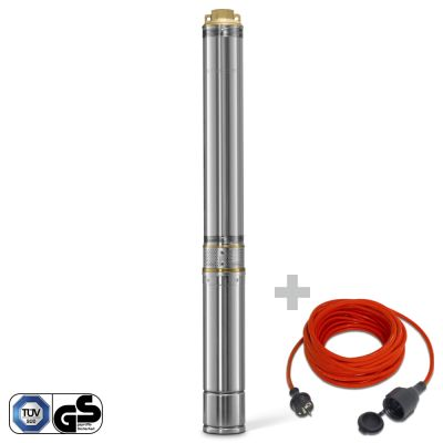 Bomba para Pozos Profundos TDP 7500 E + Cable Alargado de Calidad 15m  230 V  1,5 mm²
