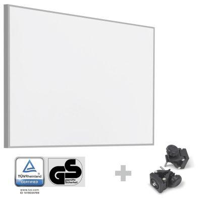 Panel calefactor infrarrojo TIH 900 S + Pinzas de sujeción de montaje