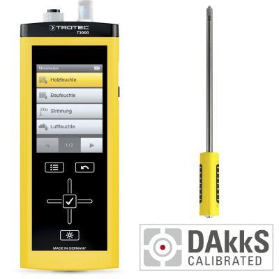 Medidor multifuncional T3000 + TS 230 SDI sensor climático - Calibración DAkkS D.2102