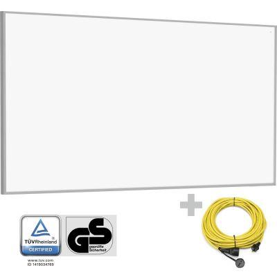 Panel calefactor infrarrojo TIH 700 S + Cable alargador profesional de 20 m / 230 V / 2,5 mm²