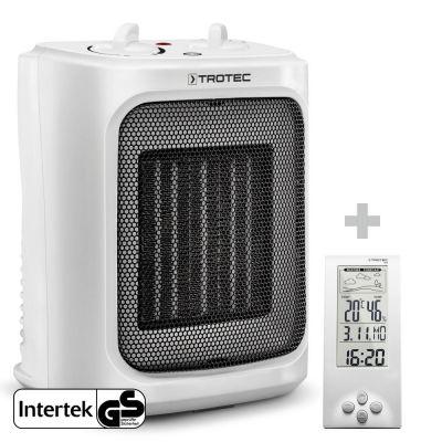 Soplador calefactor de cerámica TFC 16 E + Termohigrómetro Estación Meteorológica BZ06