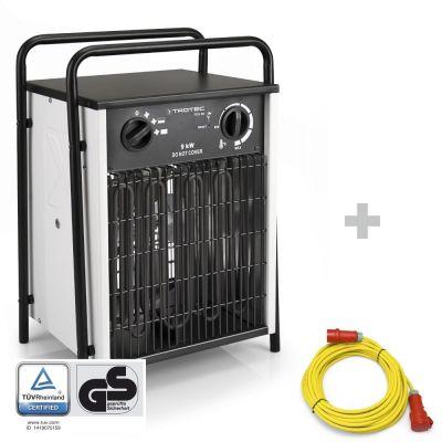 Calefactor eléctrico TDS 50 + cable de extensión profesional 20 m / 400 V / 2,5 mm²