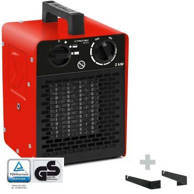 Calefactor cerámico TDS 10 C + soporte para montaje en pared