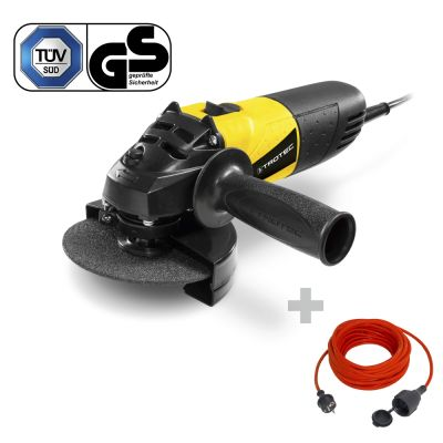 Amoladora angular PAGS 10-115 + Cable alargado de calidad 15 m / 230 V / 1,5 mm²