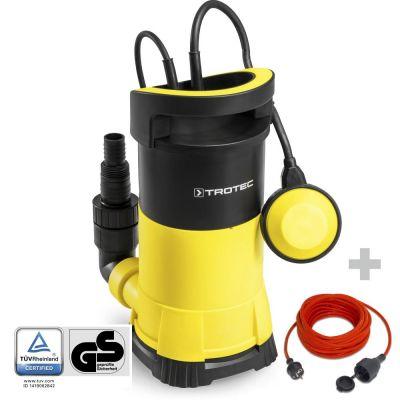 Bomba sumergible para aguas claras TWP 9005 E + Cable alargador de Calidad 15 m 230 V 1,5 mm²
