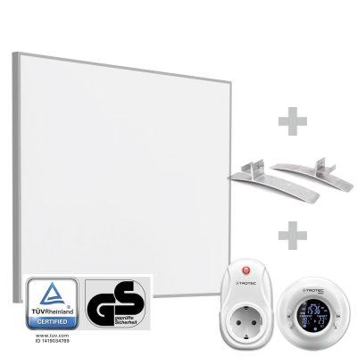Panel calefactor infrarrojo TIH 400 S + Cronotermostato inalámbrico BN35 + Pies de soporte para la serie TIH-S (2 unidades)