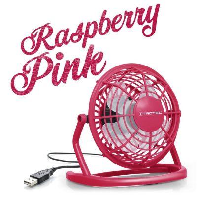 Ventilador color Raspberry Pink USB TVE 1P