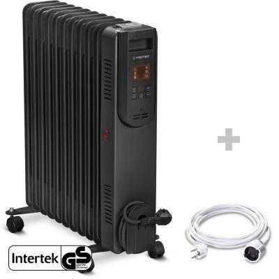 Radiador de aceite TRH 25 E + Cable alargador de PVC 5 m / 230 V / 1,5 mm²