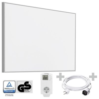 Panel calefactor infrarrojo TIH 900 S + Cable alargador de PVC 5 m / 230 V / 1,5 mm² + BN30