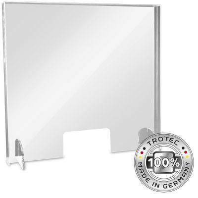 Cristal acrílico de mostrador con borde de protección de aerosol MEDIO 795 x 250 X 750