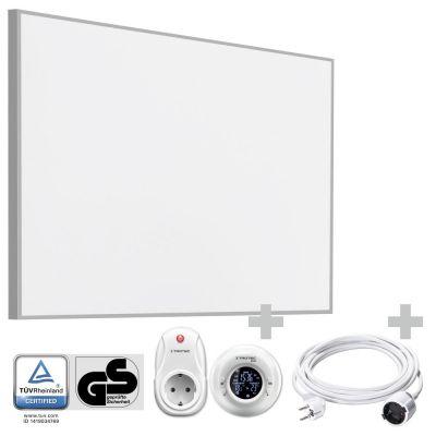 Panel calefactor infrarrojo TIH 900 S + Cronotermostato inalámbrico BN35 + Cable alargador de PVC 5 m / 230 V / 1,5 mm²