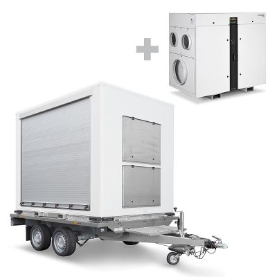 Remolque de carga para TTR incl. Deshumidificador por adsorción TTR 5200