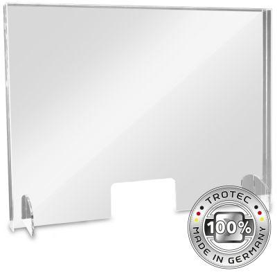 Cristal acrílico de mostrador con borde de protección de aerosol GRANDE 995 x 250 x 750