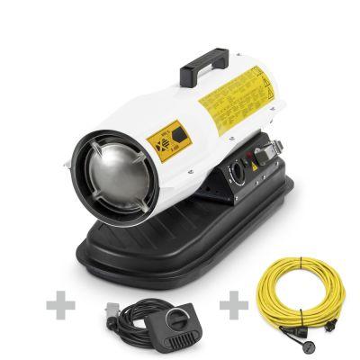 Soplador calefactor de fueloil IDE 20 D + Cable de extensión + Cable alargador profesional 230 V