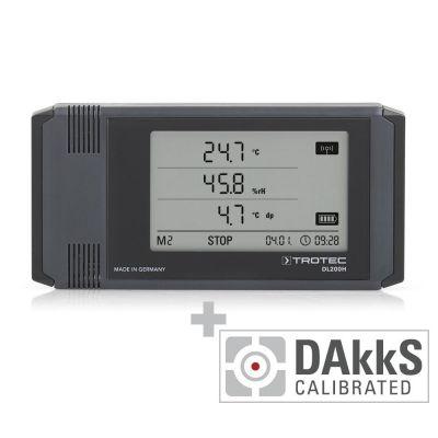 Registrador de datos DL200H - Calibración DAkkS D.2102