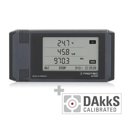 Registrador de datos DL200D - Calibración DAkkS D.2102