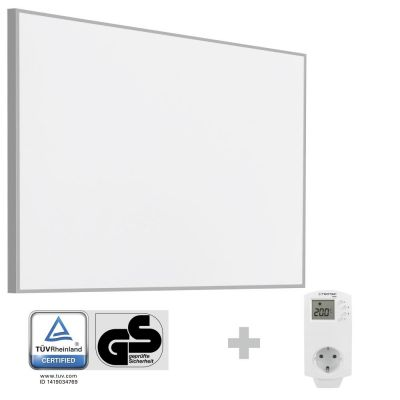 Panel calefactor infrarrojo TIH 900 S + Enchufe-Termostato BN30