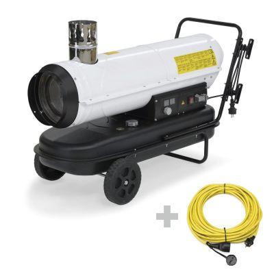 Calefactor de gasoil IDE 30 + Cable de extensión profesional de 20 m / 230 V / 2,5 mm²