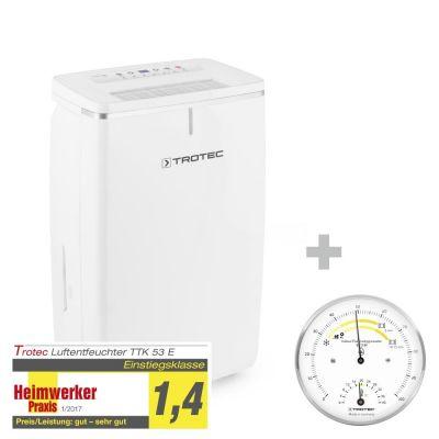 Deshumidificador TTK 53 E + Termohigrómetro para interiores BZ15M
