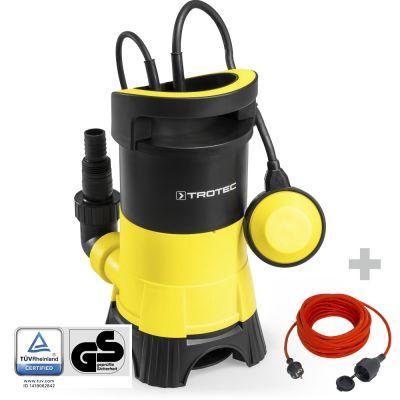 Bomba sumergible para aguas residuales TWP 4025 E + Cable alargado de calidad 15 m / 230 V / 1,5 mm²