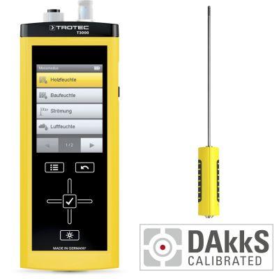 Medidor multifuncional T3000 + TS 250 SDI sensor climático - Calibración DAkkS D.2101