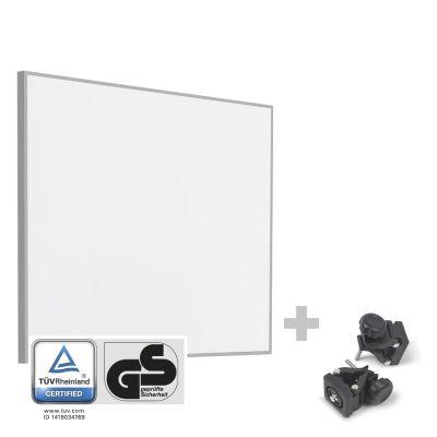 Panel calefactor infrarrojo TIH 300 S + Pinzas de sujeción de montaje