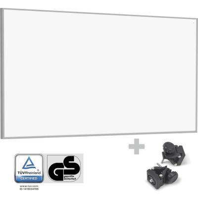 Panel calefactor infrarrojo TIH 700 S + Pinzas de sujeción de montaje