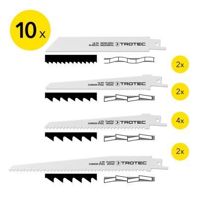 Juego de hojas de sierra sable para madera/metal/plástico (10 unidades)