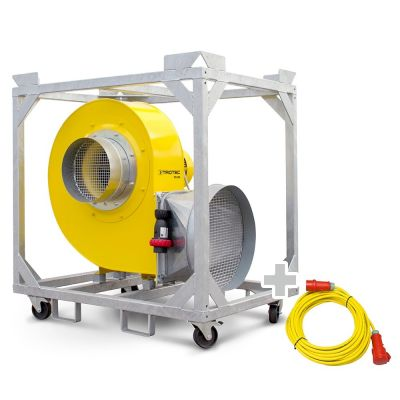 Ventilador radial TFV 300 + Cable de extensión profesional 20 m / 400 V / 2,5 mm²
