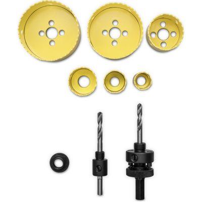Juegos de sierra de corona perforadora HSS bimetálica