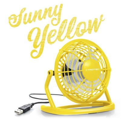 Ventilador color amarillo Sunny Yellow USB TVE 1Y