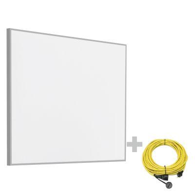 Panel calefactor infrarrojo TIH 400 S + Cable alargador profesional de 20 m / 230 V / 2,5 mm²