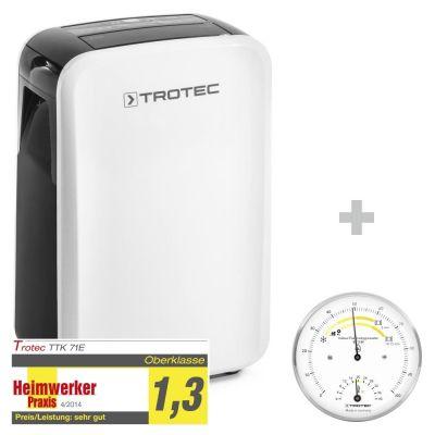 Deshumidificador TTK 71 E + Termohigrómetro para interiores BZ15M
