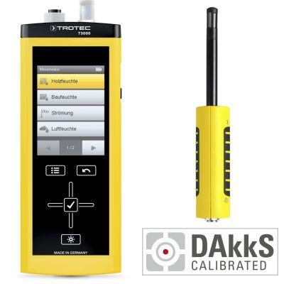 Medidor multifuncional T3000 + TS 210 SDI sensor climático + Calibración DAkkS D.2101