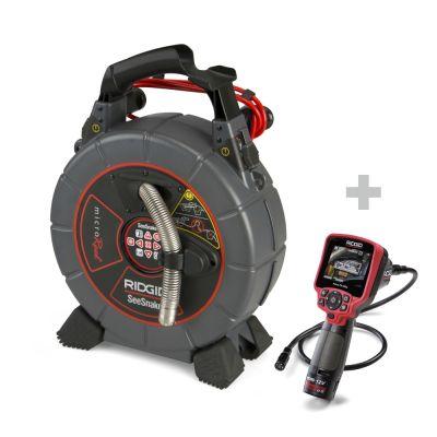 Sonda de inspección SeeSnake microReel + Cámara de inspección digital micro CA-350x